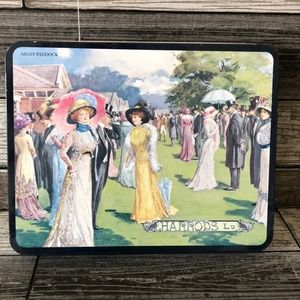 Harrods Victorian Ascot Paddock Ladies Biscuit Tin